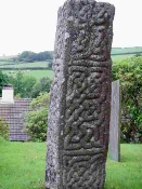 image: Granite cross showing detailed Celtic patterning